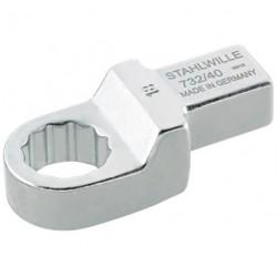 Chiavi ad anello ad innesto - 732/40 - Apertura bocca mm 17