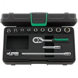 "Assortimento di chiavi a bussola ¼"" Quadro - 40/9/4 - Peso g 696"