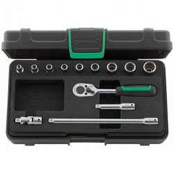 """Assortimento di chiavi a bussola ¼"""" Quadro - 40D/9/4 - Peso g 696"""