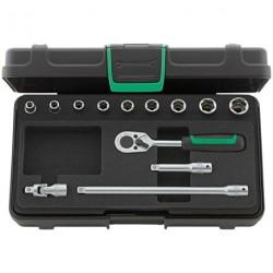 """Assortimento di chiavi a bussola ¼"""" Quadro - 40a/9/4 - Peso g 702"""