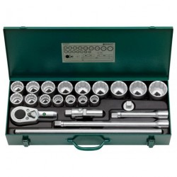 """Assortimento di chiavi a bussola ¾"""" Quadro - 55a/16/6 - Peso g 16750"""