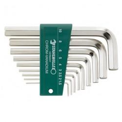 Assortimenti chiavi a barra esagonale piegate 10760CV/9
