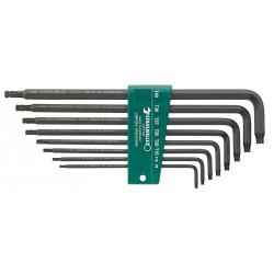 Assort. chiavi a barra piegate - 10771/8 - Peso g 290