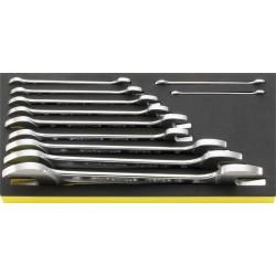 Chiavi fisse a due bocche in termoformato TSC - TCS 10/11. 6x7–34x36 mm - Peso g 2056