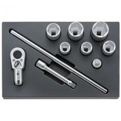 """Set utensili ¾"""" - ES 55/6/4 - Peso g 7875"""
