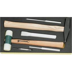Martello. scalpello ecc. in termoformato TCS - TCS 102–109/10956/10960/6 - Peso g 1500