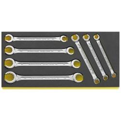 Chiavi poligonali doppie in termoformato TCS - TCS 24/7. 8x10-19x22 mm - Peso g 780