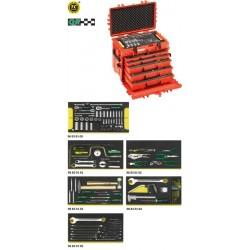 Assortimento Line Maintenance in trolley portautensile n. 13217 - 13214 WT/LR - Peso kg 26.5