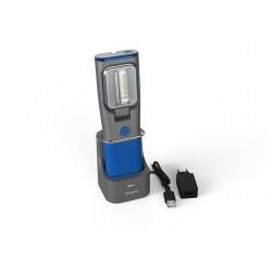 Torcia cordless LED Professionale con rilevatore UV e stazione ricarica - RCH31