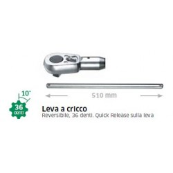 Leva a cricco lung. 510mm art. 553