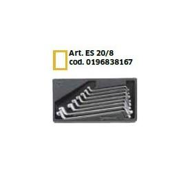 8 chiavi poligonali doppie STABIL 6x7–19x22 mm
