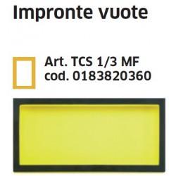 Impronta (termoformato) vuota art. TCS 1/3 MF